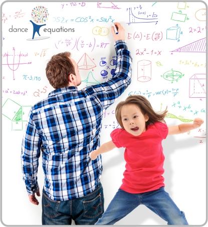 Teacher teaching math with dance